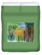Flowers In A Forest Duvet Cover