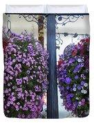 Flowers In Balance Duvet Cover