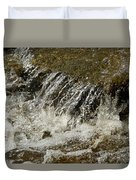 Flowing Water Over Rocks Duvet Cover