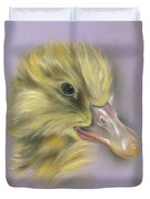 Fluffy Duckling Portrait Duvet Cover by MM Anderson