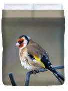 Fluffy Goldfinch Duvet Cover