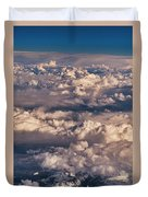 Flying Over The Rocky Mountains Duvet Cover