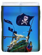 Flying The Pirates Colors Duvet Cover