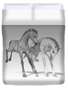 Foals Black And White Bleached Duvet Cover
