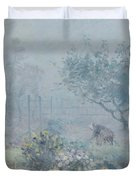 Foggy Morning, Voisins, 1874 Duvet Cover