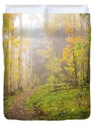 Foggy Winsor Trail Aspens In Autumn 2 - Santa Fe National Forest New Mexico Duvet Cover