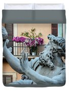 Fontana Dei Quattro Fiumi Duvet Cover