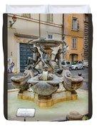 Fontana Delle Tartarughe Duvet Cover