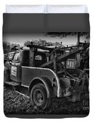 Ford F4 Tow The Truck Business End Black And White Duvet Cover