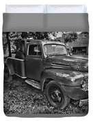 Ford F4 Tow The Truck Hook And Book Black And White Duvet Cover