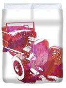 Ford Flathead Roadster Two Pop Duvet Cover by David King