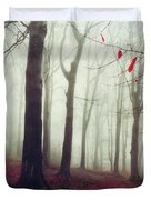 Forest In December Mist Duvet Cover
