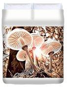 Forest Mushrooms Duvet Cover