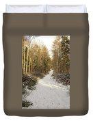 Forest Track In Winter Duvet Cover