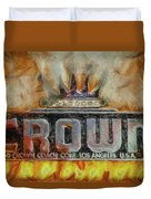 Forged In Fire - Crown - Oil Duvet Cover