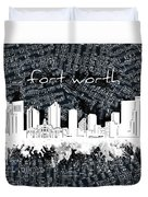 Fort Worth Skyline Music Sheet 2 Duvet Cover