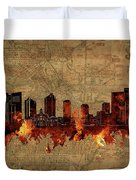 Fort Worth Skyline Vintage 2 Duvet Cover