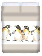 Four Penguins Duvet Cover