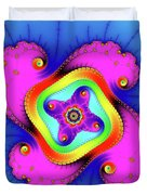 Fractal Art With Bold Colors Square Duvet Cover