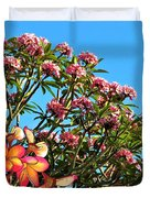 Frangipani Tree Duvet Cover
