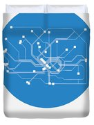 Frankfurt Blue Subway Map Duvet Cover