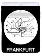 Frankfurt White Subway Map Duvet Cover