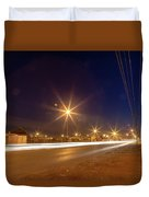 Freedom Square Long Exposure Duvet Cover