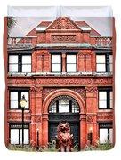 Freemason's Hall Historic Savannah Duvet Cover
