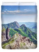 French Village In The Pyrenees Duvet Cover