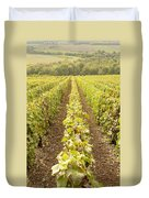 French Vineyards Of The Champagne Region Duvet Cover