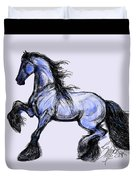 Friesian Mare Duvet Cover by Stacey Mayer