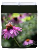 Frilly Hat Echinacea Duvet Cover