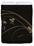 Frog And Orchid Duvet Cover