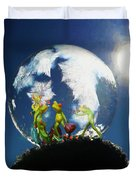 Frogs In A Bubble Duvet Cover