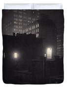 From The Back Window, 291 Ny Winter Duvet Cover