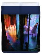 Front Stage, Back Stage Duvet Cover