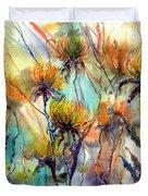 Frozen Chrysanthemums Duvet Cover