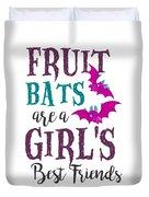 Fruit Bat Conservation Halloween Flying Fox Women Light Duvet Cover