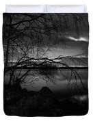 Full Moon Behind The Clouds Duvet Cover
