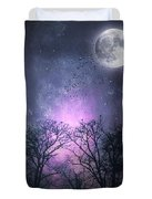 Full Moon Night Magic Duvet Cover