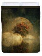 Full Moon Over Misty Water Duvet Cover by Jan Keteleer
