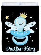 Fun Pacifier Fairy Boys To Give Up Pacifiers Duvet Cover