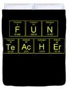 Fun Teacher Teachers Assistant Design Yellow Duvet Cover