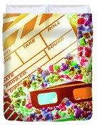 Funky Film Festival Duvet Cover