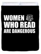 Funny Book Lover Design Who Likes Books Duvet Cover
