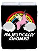 Funny Llamacorn Majestically Awkward Alpaca Lama Duvet Cover