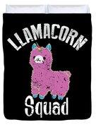 Funny Llamacorn Squad Unicorn Alpaca Lama Duvet Cover