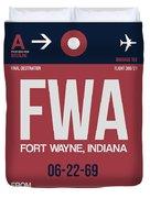 Fwa Fort Wayne Luggage Tag II Duvet Cover