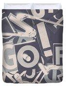 Game Of Golf Duvet Cover
