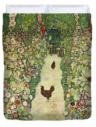 Garden With Chickens, 1916 Duvet Cover